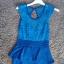niebieska sukienka z baskinką...