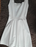 śmietankowa sukienka xs