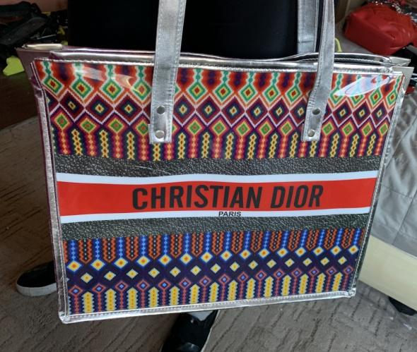 Christian Dior duża logowana torba torebka shopperka najnowszy modeL