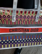 Christian Dior duża logowana torba torebka shopperka najnowszy ...