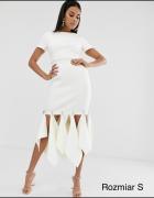 Biała sukienka frędzle Asos