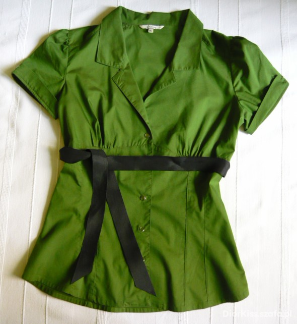 Zielona koszula Stradivarius M