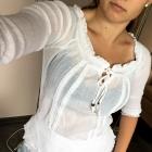 Biała bluzka boho atmosphere S