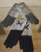 Rękawiczki z futerkiem naturalnym