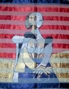 ogromna chusta z obrazem Pablo Picasso...