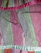 torba worek H&M miętowa różowa paski