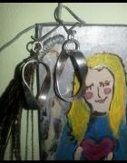 stare kolczyki ze srebra duże