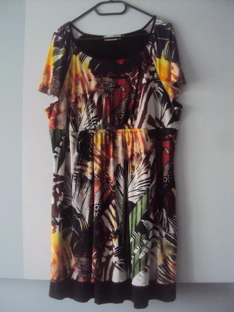 kolorowa sukienka tunika