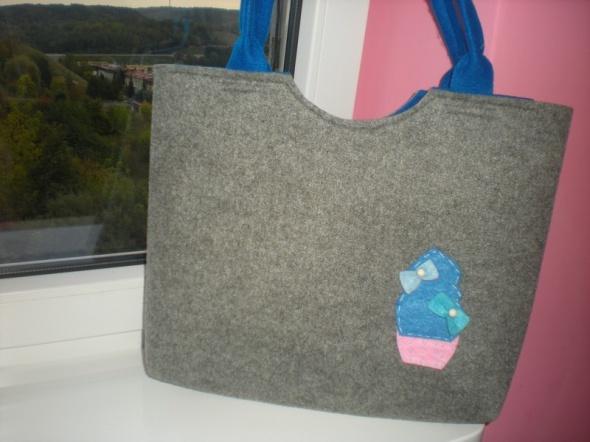 Filcowa torebka torba z filcu a4