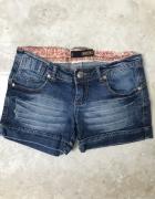 Jeansowe niebieskie krótkie spodenki szorty...