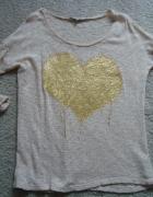 Sweter Reserved z aplikacją złote serce rozm L 42...