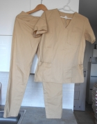 Workmed komplet medyczny bluza spodnie nude beżowe...