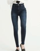 Spodnie jeansowe z wysokim stanem abercrombie &fitch...