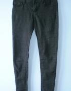 Atmosphere skinny ciemne grafitowe rurki jeansy...