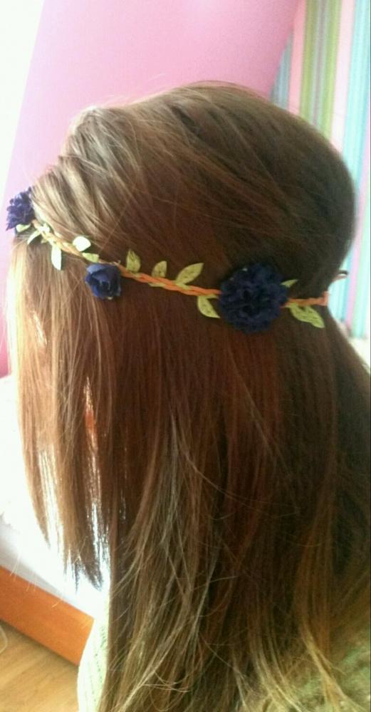opaska na włosy kwiatki wianek river island
