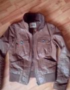Skórzana porządna kurtka M L