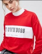 Bluza czerwona Pull&Bear rozmiar ML...