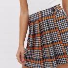 Spódnica trójkolorowa w pepitke z guzikami rozmiar SM