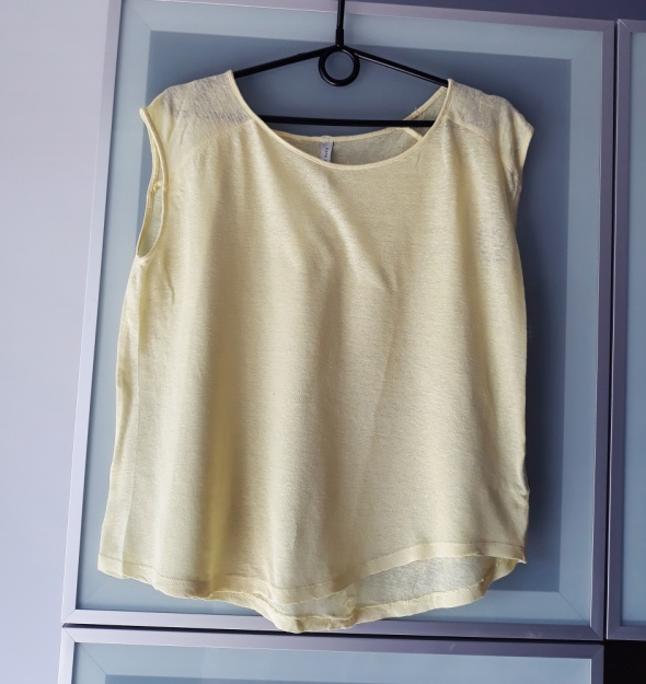 Żółta bluzka mgiełka Reserved rozmiar M...