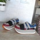 Zara nowe sneakers buty platformy adidasy skóra