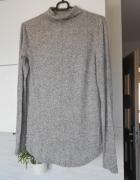 CA szary cienki sweter dzianina półgolf klasyka minimalizm...