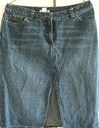 Jeansowa spódnica w kolanko H&M 38