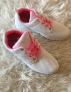 Adidas Nike sportowe białe buty siateczka trampki tenisówki adi...