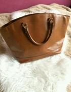 Zara Basic Camel brązowa torba torebka maxi shopper bag...
