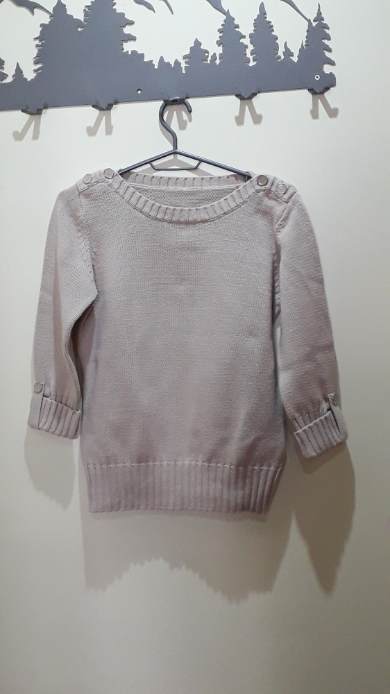 sweter beżowy ciepły