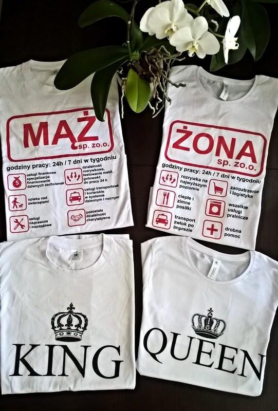 Zestaw koszulek dla pary S M