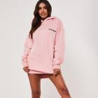 Playboy&Missguided różowa sukienka bluza z nadrukiem
