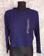 Granatowy sweter H&M S...