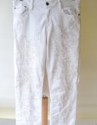 Spodnie Rurki Białe Haft S 36 Odd Molly Wyszarpane...