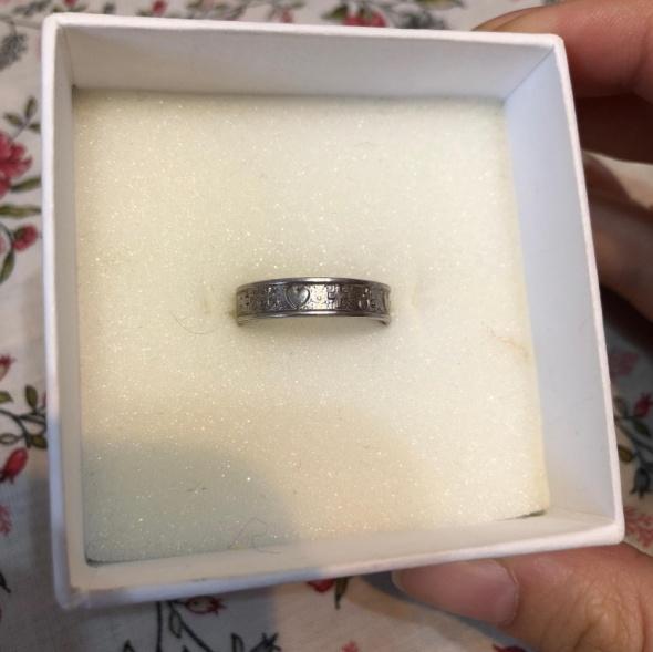Śliczna inna obrączka srebro 925