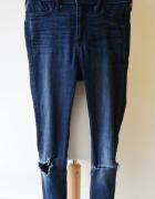 Spodnie Hollister Dziury Kolana W25 XS 34 Rurki...
