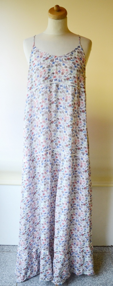 Suknie i sukienki Sukienka Long Kwiaty H&M Logg XL 42 Kwiatki Długa