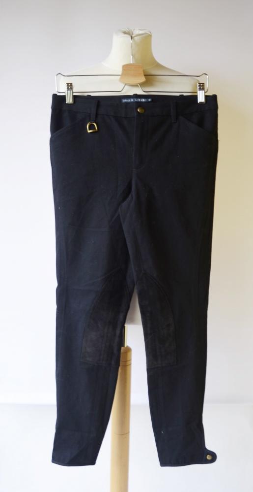 Spodnie Granatowe Ralph Lauren S 36 Bryczesy Jazda Konna