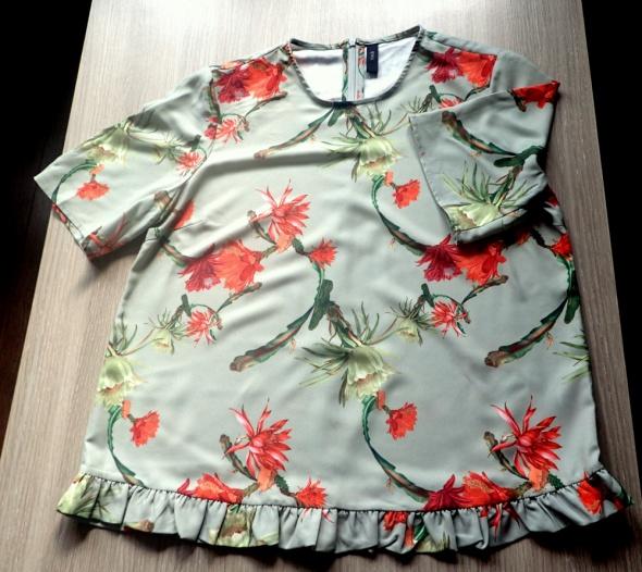Bluzki YAS Rewelacyjna bluzka z falbanką M L