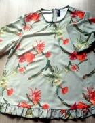 YAS Rewelacyjna bluzka z falbanką M L