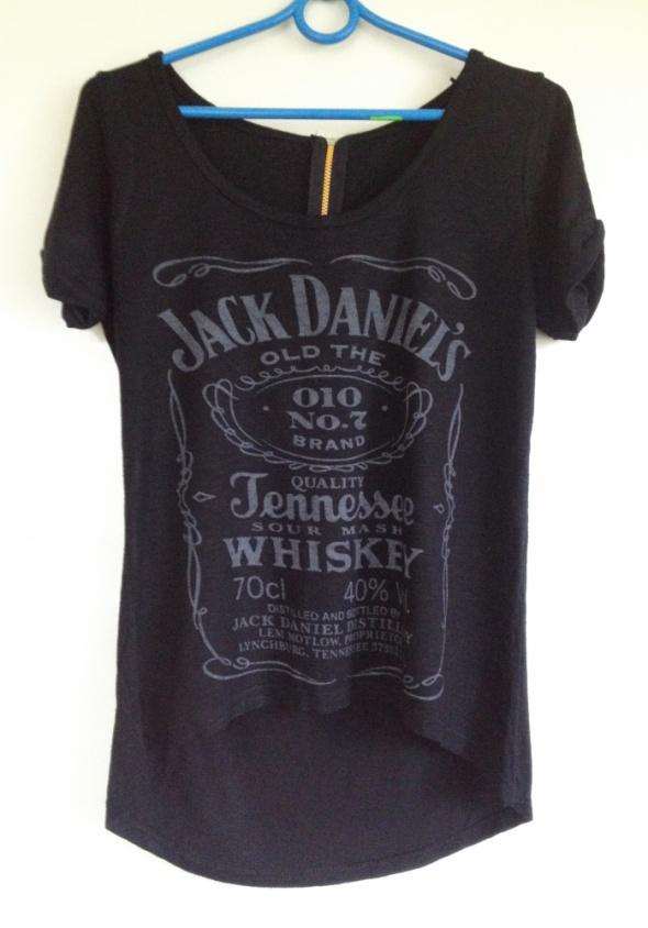 T-shirt Jack Daniels koszulka elastyczna dłuższy tył uniwersalna XS S M XL 34 36 38