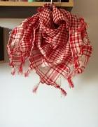 new Modny duży szal kolorowa krata czerwona biała...