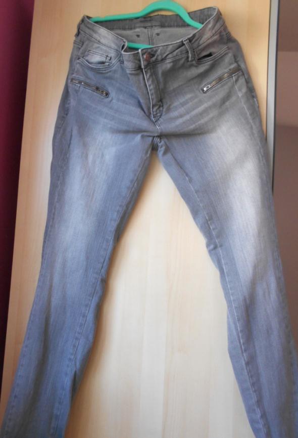 Esmara szare jeansy rurki slim fit dopasowane skin