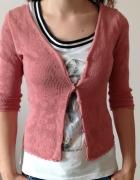 Ażurowy krótki sweterek...