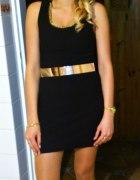 Czarna sukienka mini Xs s