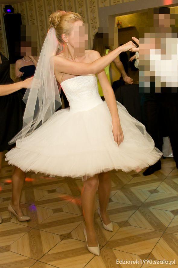 Suknie ślubne Ślubna krótka sukienka 32 34