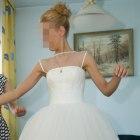 Ślubna krótka sukienka 32 34
