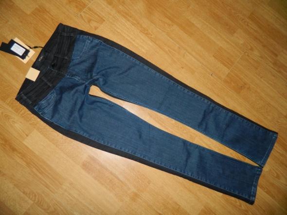 ICHI jeansowe spodnie czarno granatowe roz 28