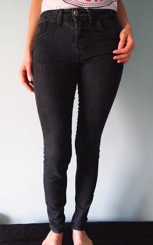 Ciemnoszare spodnie jeansy Denim Co 36 S 8 rurki