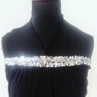 Czarna tunika sukienka gwiazdy Vero Moda