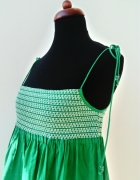 Szmaragdowa sukienka H&M...